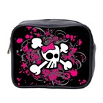 Girly Skull & Crossbones Mini Toiletries Bag (Two Sides)