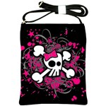 Girly Skull & Crossbones Shoulder Sling Bag
