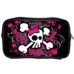 Girly Skull & Crossbones Toiletries Bag (Two Sides)