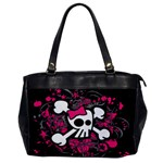 Girly Skull & Crossbones Oversize Office Handbag (One Side)
