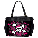 Girly Skull & Crossbones Oversize Office Handbag (Two Sides)