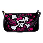Girly Skull & Crossbones Shoulder Clutch Bag