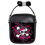 Girly Skull & Crossbones Girls Sling Bag