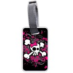 Girly Skull & Crossbones Luggage Tag (one side)