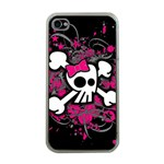 Girly Skull & Crossbones Apple iPhone 4 Case (Clear)