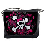 Girly Skull & Crossbones Messenger Bag