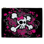 Girly Skull & Crossbones Cosmetic Bag (XXL)