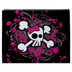 Girly Skull & Crossbones Cosmetic Bag (XXXL)