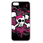 Girly Skull & Crossbones Apple Seamless iPhone 5 Case (Clear)