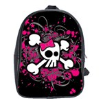Girly Skull & Crossbones School Bag (XL)