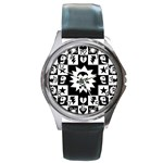 Gothic Punk Skull Round Metal Watch
