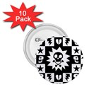Gothic Punk Skull 1.75  Button (10 pack)