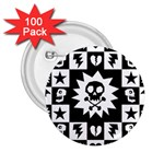 Gothic Punk Skull 2.25  Button (100 pack)