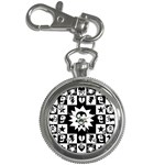 Gothic Punk Skull Key Chain Watch
