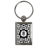 Gothic Punk Skull Key Chain (Rectangle)