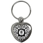 Gothic Punk Skull Key Chain (Heart)