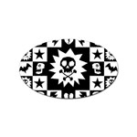 Gothic Punk Skull Sticker (Oval)