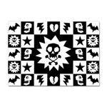 Gothic Punk Skull Sticker (A4)