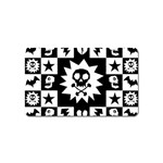 Gothic Punk Skull Magnet (Name Card)
