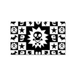 Gothic Punk Skull Sticker Rectangular (10 pack)
