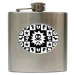 Gothic Punk Skull Hip Flask (6 oz)