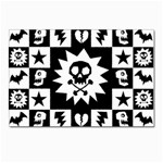 Gothic Punk Skull Postcard 4 x 6  (Pkg of 10)