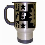 Gothic Punk Skull Travel Mug (Silver Gray)