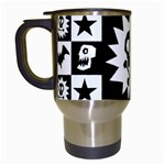 Gothic Punk Skull Travel Mug (White)