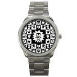 Gothic Punk Skull Sport Metal Watch