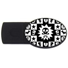 Gothic Punk Skull USB Flash Drive Oval (4 GB) from ArtsNow.com Front