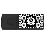 Gothic Punk Skull USB Flash Drive Rectangular (4 GB)