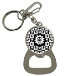 Gothic Punk Skull Bottle Opener Key Chain