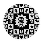 Gothic Punk Skull Round Ornament (Two Sides)