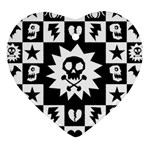 Gothic Punk Skull Heart Ornament (Two Sides) from ArtsNow.com Back
