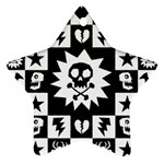 Gothic Punk Skull Star Ornament (Two Sides)