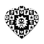 Gothic Punk Skull Dog Tag Heart (One Side)