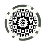 Gothic Punk Skull Poker Chip Card Guard
