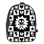 Gothic Punk Skull School Bag (Large)