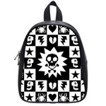 Gothic Punk Skull School Bag (Small)