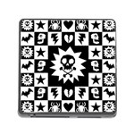 Gothic Punk Skull Memory Card Reader with Storage (Square)