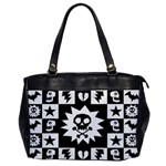 Gothic Punk Skull Oversize Office Handbag (One Side)