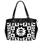 Gothic Punk Skull Oversize Office Handbag (Two Sides)