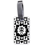 Gothic Punk Skull Luggage Tag (one side)