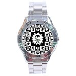 Gothic Punk Skull Stainless Steel Analogue Men's Watch