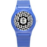 Gothic Punk Skull Round Plastic Sport Watch Small