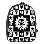 Gothic Punk Skull School Bag (XL)