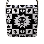 Gothic Punk Skull Flap Closure Messenger Bag (Large)