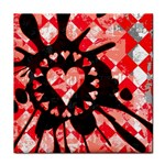 Love Heart Splatter Tile Coaster