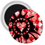 Love Heart Splatter 3  Magnet