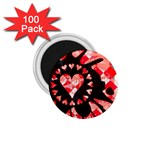 Love Heart Splatter 1.75  Magnet (100 pack)